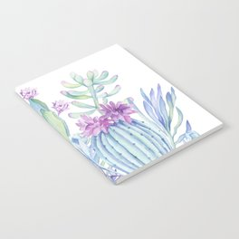 Mixed Cacti White #society6 #buyart Notebook
