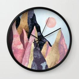 Mauve Peaks Wall Clock