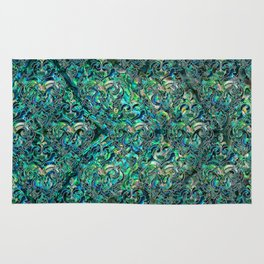 Persian Oriental pattern abalone and silver Rug