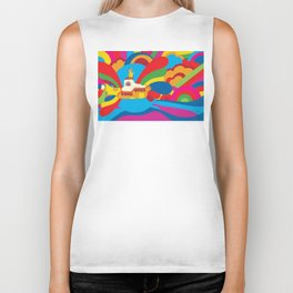 Yellow Submarine Biker Tank