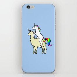 Unicorn Riding Llamacorn iPhone Skin