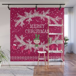 Merry christmas and happy new year 12 Wall Mural