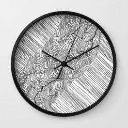 Rift Lines Wall Clock