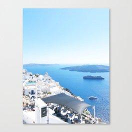 238. Welcome in Santorini, Greece Canvas Print