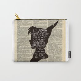 Peter Pan Over Vintage Dictionary Page - That Place Carry-All Pouch