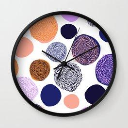 big chrysanthemum dots Wall Clock