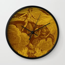 The Occult Golden Elephant Wall Clock