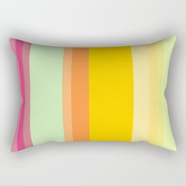 yellow stripes Rectangular Pillow