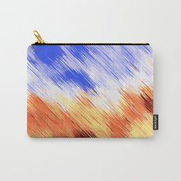 blue brown and white painting texture abstract background Carry-All Pouch