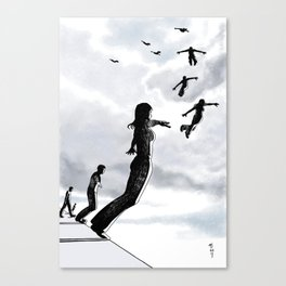 Sky dive to freedom Canvas Print