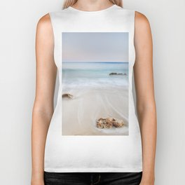 """Serenity beach"". Sunset at the beach Biker Tank"
