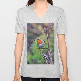 Garden Robin Unisex V-Neck