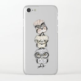 Owl Totæm Clear iPhone Case