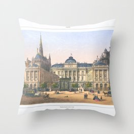 Paris art print Paris Decor office decoration vintage decor PALAIS DE JUSTICE of Paris Throw Pillow