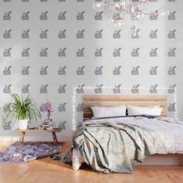 White Rabbit Girl isolated Wallpaper