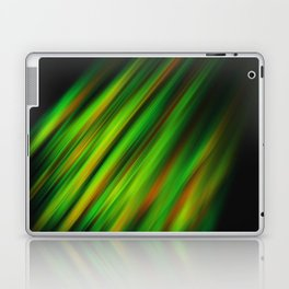 Colorful neon green brush strokes on dark gray Laptop & iPad Skin