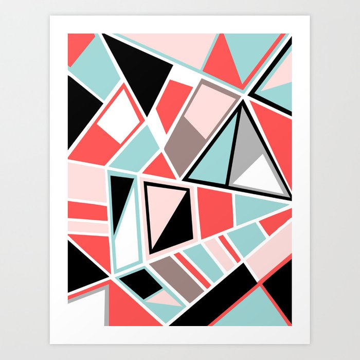 Abstract #534 Facets Art Print