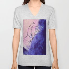 Abstract hand Unisex V-Neck