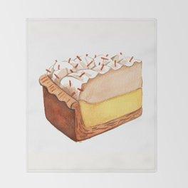 Coconut Cream Pie Slice Throw Blanket