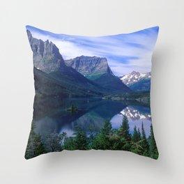 Montana Mountains Throw Pillow