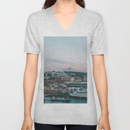 Seattle & Mount Rainier Unisex V-Neck