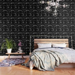 Distressed Grunge 102 in B&W Wallpaper