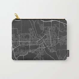 Sherbrooke Map, Canada - Gray Carry-All Pouch