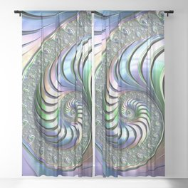 Colorful Spiral Sheer Curtain