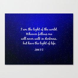 Light of the World - Bible Verse Galaxy Version Canvas Print