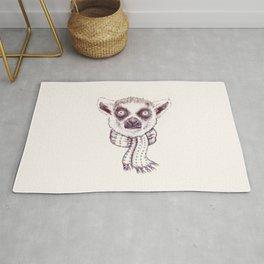 Lemur and scarf Rug