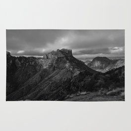 Top of Lost Mine Trail Mountaintop View, Big Bend - Landscape Photography Rug