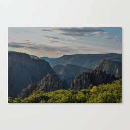 Black Canyon of the Gunnison National Park at Sunrise Canvas Print