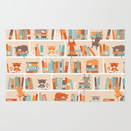 Library cats Rug