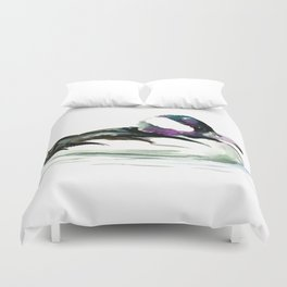 Bufflehead Duck Duvet Cover