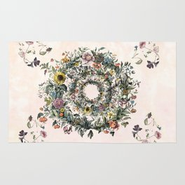 Circle of life- floral Rug