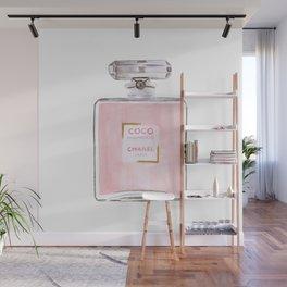 Classic Pink Parfum Perfume Fashion Cute Minimalism Wall Mural