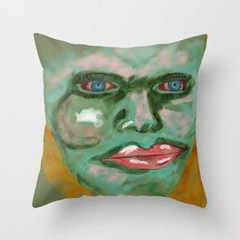 Blood Queen-vamp Throw Pillow