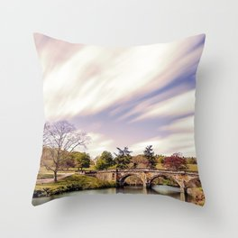 Paine`s Bridge, Chatsworth, Derbyshire, UK. Throw Pillow