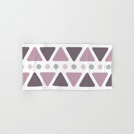 Mid Century Modern Triangles Dots Lilac Hand & Bath Towel