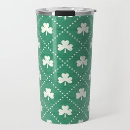 SHAMROCK ON! - emerald Travel Mug