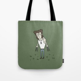 Sad Wolf Dude in a Field Tote Bag