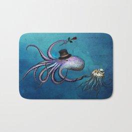 Underwater Love // octopus jellyfish Bath Mat