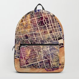 Toronto Canada Street Map Backpack