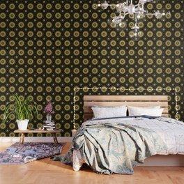 Golden extravaganza mandala Wallpaper