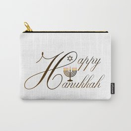 Happy Hanukkah- Jewish holiday celebration with star of David Carry-All Pouch