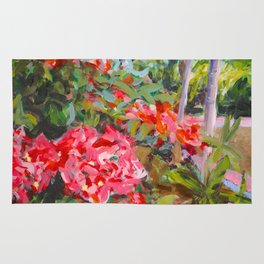 Flowers at Uxmal Painting Rug