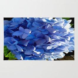 Blue Hydrangia Flower Blossom Rug