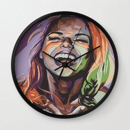 Painted Woman #6 Wall Clock