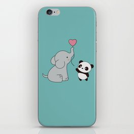 Kawaii Cute Elephant and Panda iPhone Skin