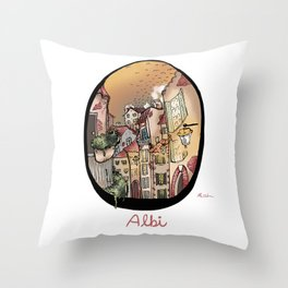 Streets in Albi Throw Pillow